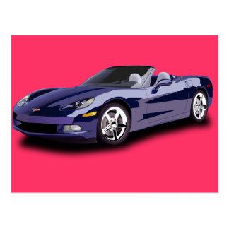 Hot Racing Car Post Card