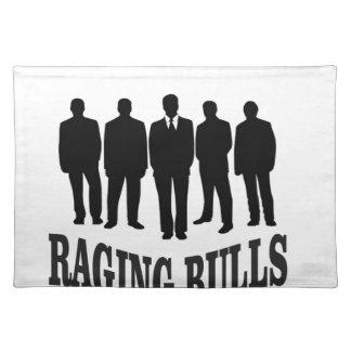 hot raging bulls placemat