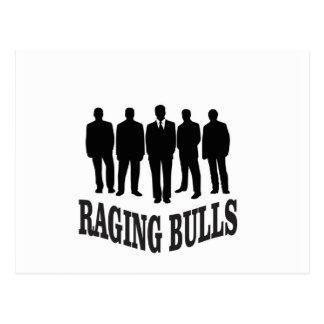 hot raging bulls postcard