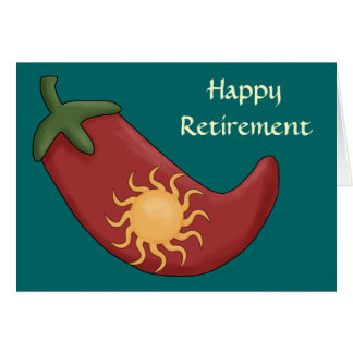 Hot Red Chili Pepper Retirement - Western Card
