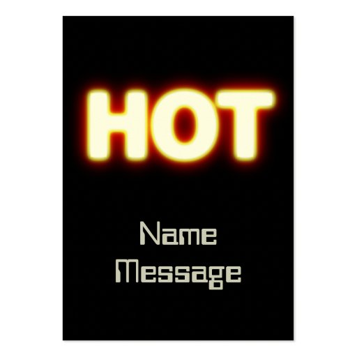 HOT Red Hot White Glowing Logo Business Card
