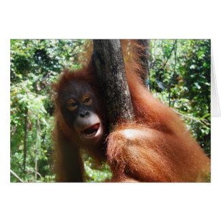 Hot Redhead a real animal Greeting Card