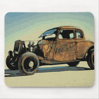 Hot Road Car Mouse Pad