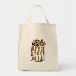 hot roasted peanuts grocery tote bag