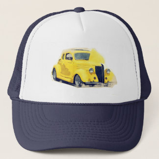 Hot rod 40s chopped muscle car trucker hat