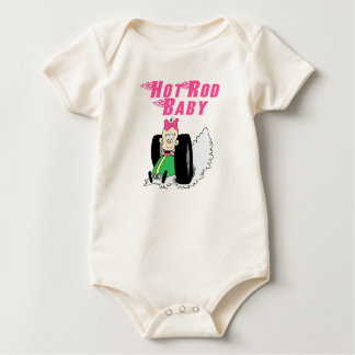Hot Rod Baby Pink or Blue Baby Bodysuit