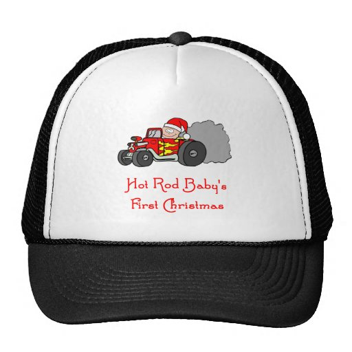 Hot Rod Baby's First Christmas Mesh Hats