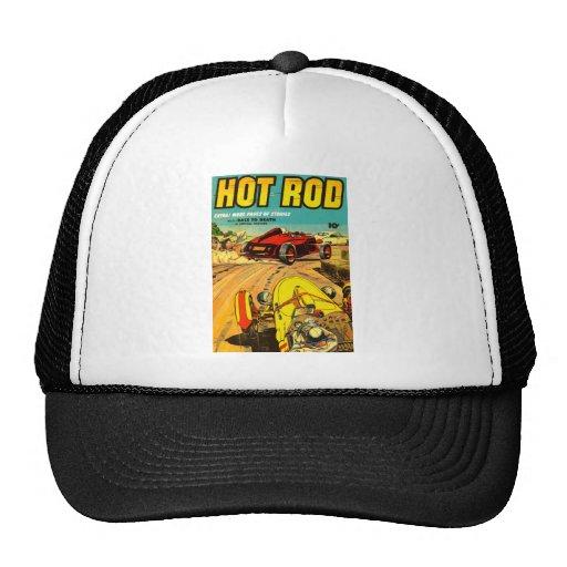 Hot Rod Car Racing - Vintage Art Mesh Hat