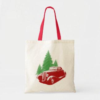 Hot Rod Christmas Budget Tote Bag