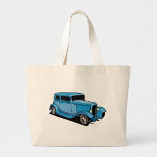 Hot Rod Coupe (Blue) Tote Bags