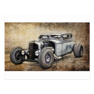 Hot Rod Coupe Postcard