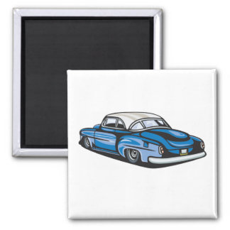 Hot Rod Coupe Refrigerator Magnet