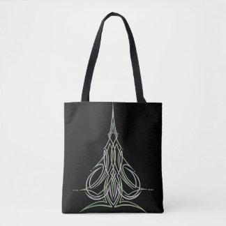 Hot Rod Custom Car Pinstripe Pinstriping Art Tote Bag