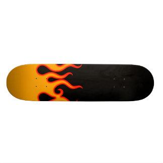 Hot rod custom paint art style flames skateboard
