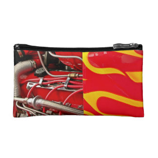 Hot rod engine cosmetic bag