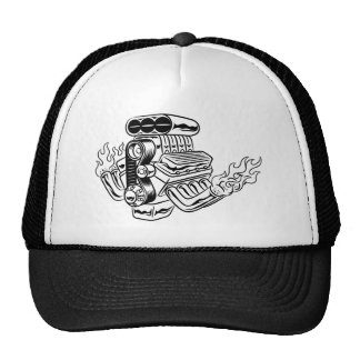 Hot Rod Engine Trucker Hats