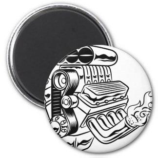 Hot Rod Engine Magnet