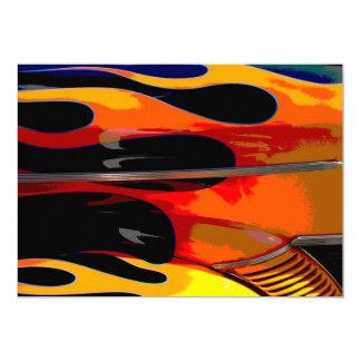 Hot Rod Flames Birthday Party 13 Cm X 18 Cm Invitation Card
