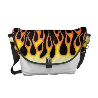 Hot Rod Flames Courier Bags