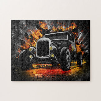 Hot Rod & Flames Photo Puzzle with Gift Box