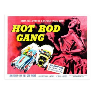 Hot Rod Gang (1958) Postcard