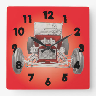Hot Rod Garage Man Cave Clock