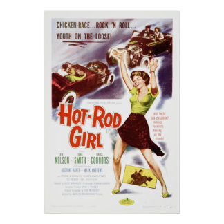 Hot Rod Girl - Vintage 50's Movie Poster