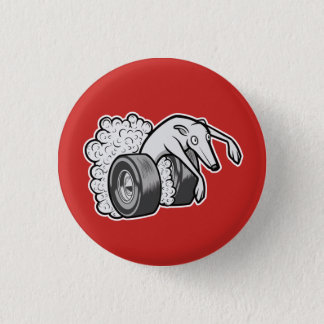 Hot Rod Hound 3 Cm Round Badge