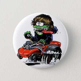 Hot Rod Monster Button