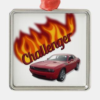 HOT ROD Muscle Car Metal Ornament