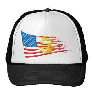 Hot Rod Nation Flag Mesh Hats