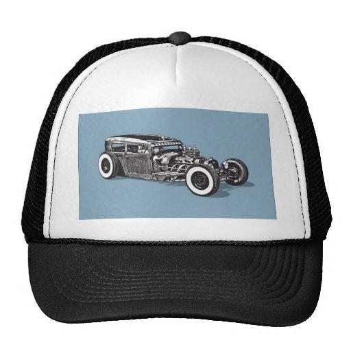Hot rod oldsmobile design trucker hat