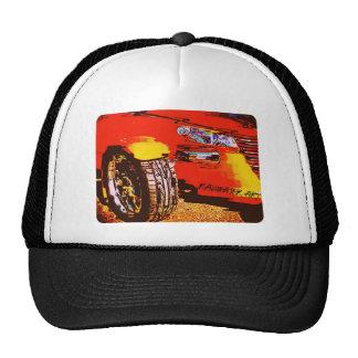 Hot Rod Orange Mesh Hats