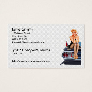 Hot Rod Pinup Girl Business Card