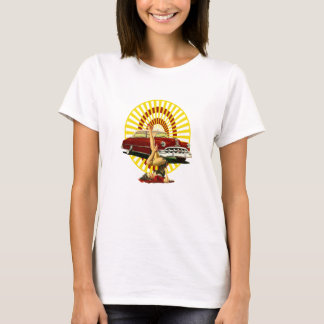 Hot Rod Pinup Girl T-Shirt
