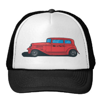Hot Rod Red Mesh Hats