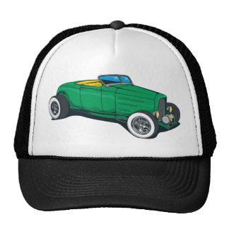 Hot Rod Roadster (Green) Mesh Hats
