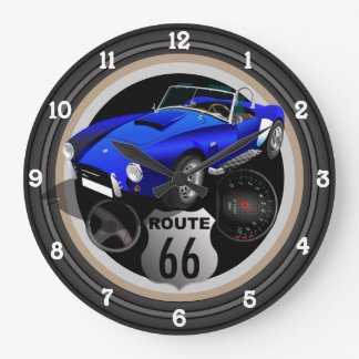 Hot Rod Route 66 Large Clock
