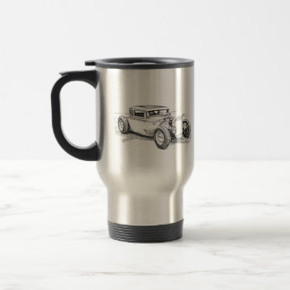 Hot Rod Silhouette Outline Coffee Mug