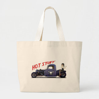 Hot Rod Truck with a Girl Canvas Bags
