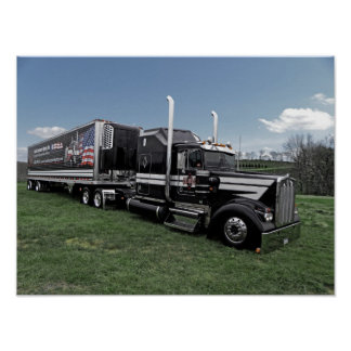 Hot Rod Truckin Kenworth Poster