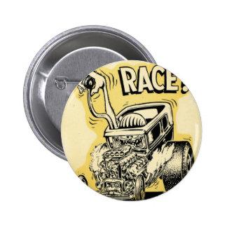 hot rod wanna race monster cartoon oldschool 6 cm round badge