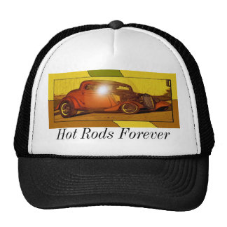 Hot Rods Forever Trucker Hats