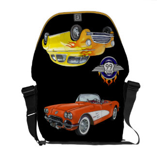 Hot Rods / Route 66 Bag - SRF Courier Bag