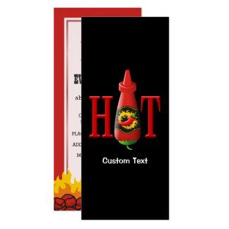 Hot Sauce Bottle Card