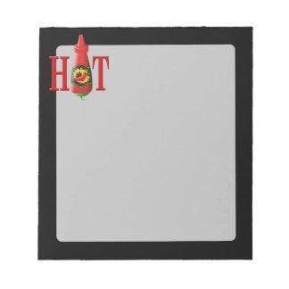 Hot sauce bottle notepad