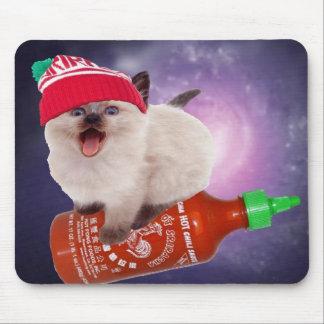 hot saucin' kat mouse pad