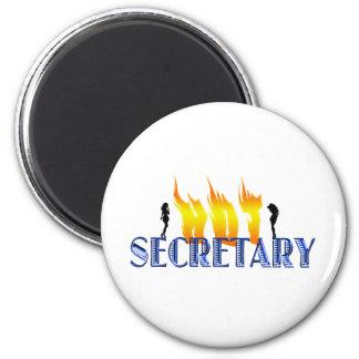 Hot Secretary 6 Cm Round Magnet