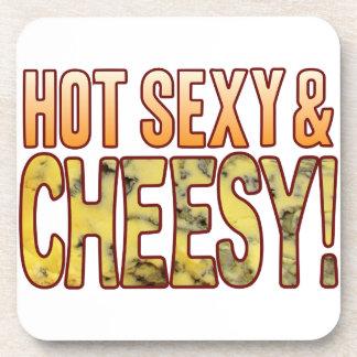 Hot Sexy Blue Cheesy Beverage Coasters
