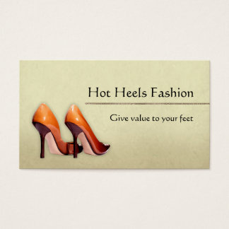 Hot Shoes Boutique Business Card